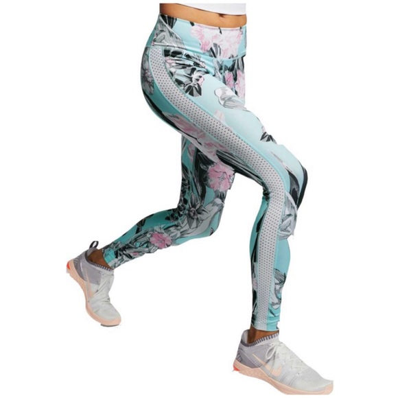 7f87446e484 Nike One Women s Floral Tights AJ8863-449 NWT S